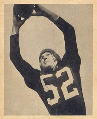 Halfback (American football) - Harry Gilmer catching a football.