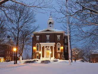 Bates College - The college's oldest academic building, Hathorn Hall was built in 1856 by Boston architect Gridley J. F. Bryant.