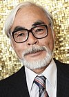 Miyazaki at the Venice Film Festival in 2008