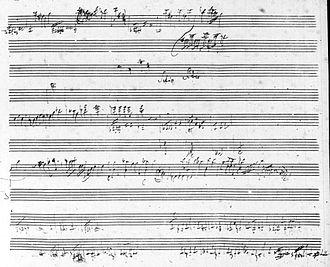 H. C. Robbins Landon - Haydn manuscript (The Seven Last Words of Christ)