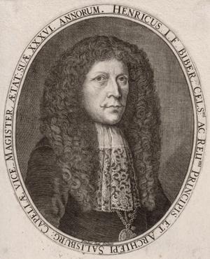 Kroměříž - Heinrich Biber in 1681
