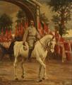 Heinrich Dohm - Genforeningen den 10. juli 1920. Kong Christian X rider igennem æresporten ved Frederikhøj.png