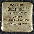 """Heinrich Habitz """"Liddy Bacroff""""-Stolperstein.jpg"""