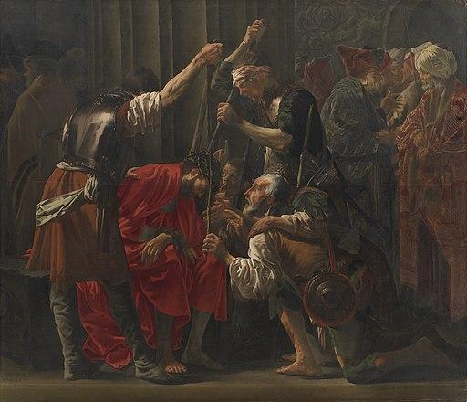 Hendrick Brugghen - Christ Crowned with Thorns (Kristi Tornekroning) - c 1620 - National Gallery of Denmark
