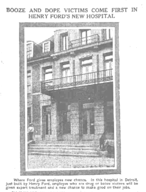 Henry Ford Hospital - Newspaper photo of the hospital, 1915.