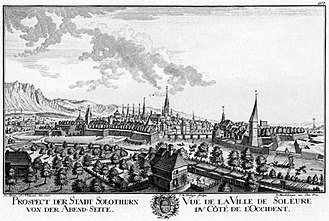 Solothurn - Solothurn in 1757