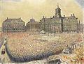 Het bevrijdingsfeest op de Dam op 9 mei 1945 Rijksmuseum SK-A-4979.jpeg