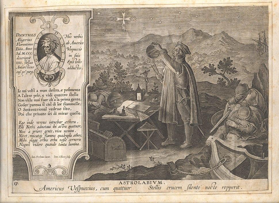 Het gebruik van het astrolabium door Amerigo Vespucci, Jan Collaert II, Museum Plantin-Moretus, PK.OPB.0186.018