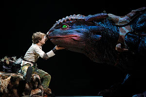 How to Train Your Dragon (franchise) - Image: Hiccup, Toothless, How to Train Your Dragon Live Spectacular