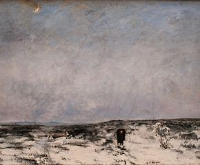 Moorland with carriage
