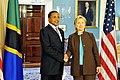 Hillary Clinton meets with Tanzanian President Jakaya Kikwete, May 2009-2.jpg