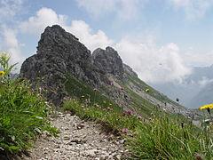Hindelanger Klettersteig Ungesicherte Stellen : Hindelanger klettersteig gipfelpfad
