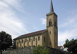 Hoffenheim - Image: Hoffenheim evkirche web