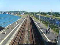 Hokkaido, Toyotomi station platform.jpg