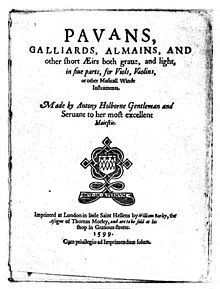 holborne pavane and galliard essay Pavans, galliards, almains and other short aeirs (london 1599) » midi | 1  pavan: bona speranza » midi | 2 galliard: the teares of the muses » midi | 3.