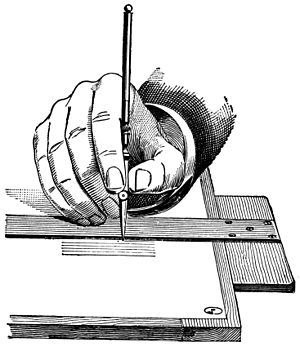 Technical drawing tool - Holding a ruling-pen, 1901