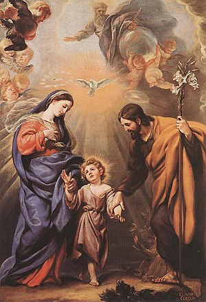 English: Holy Family: Mary, Joseph and child Jesus