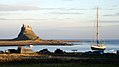 Holy Island Harbour and Castle (7250745162).jpg