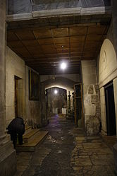 Holy Sepulchre hallway outside Chapel of Derision 2.jpg
