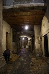 Holy Sepulchre hallway outside Chapel of Derision 2.jpg