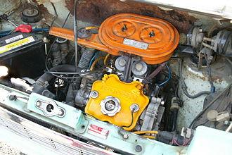 Honda Life - Honda Life two-cylinder EA engine with twin Keihin carburetors