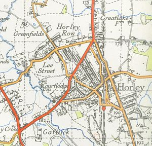 Horley - Map of Horley from 1946