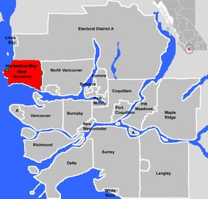 Horseshoe Bay, West Vancouver - Location of Horseshoe Bay