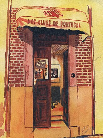 Hot Club of Portugal - Number 39 in Keldermansstraat(watercolor by Elsa Canavarro).