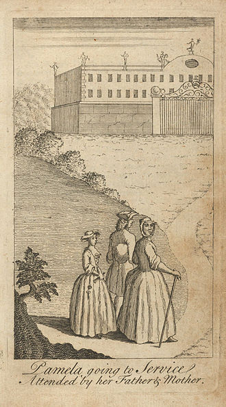 Pamela; or, Virtue Rewarded - Illustration from a 1741 pirated edition