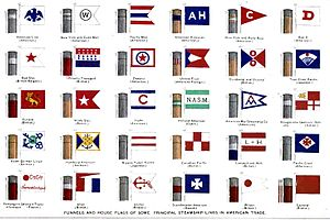 Maritime flag - House flags, ca. 1900