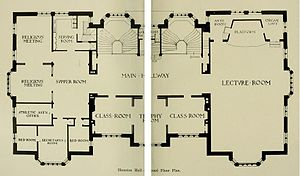 Houston Hall (University of Pennsylvania) - Image: Houston Hall 2nd Floor Plan 1896