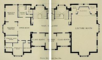 Houston Hall (University of Pennsylvania) - Image: Houston Hall 2nd Floor Plan 1896