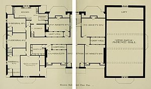 Houston Hall (University of Pennsylvania) - Image: Houston Hall 3rd Floor Plan 1896