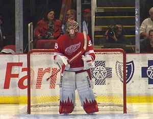 English: Jimmy Howard of the Detroit Red Wings...