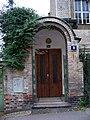 Hradešínská 6, Kotěrova vila, vstup.jpg