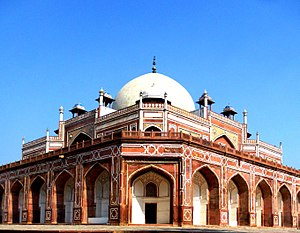 Humayun's tomb outside