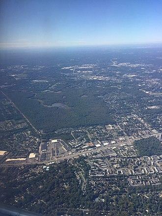 Huntley Meadows Park - Huntley Meadows Park from the air in 2017