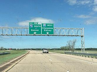 Interstate 76 (Colorado–Nebraska) - I-76 is signed as a north–south route in Nebraska