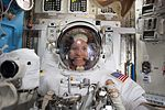 ISS-48 Kate Rubins during spacesuit check for EVA-1.jpg