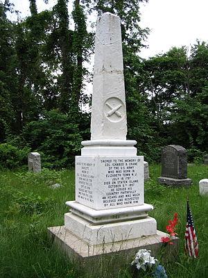Ichabod Crane (colonel) - Col. Ichabod Crane's gravemarker