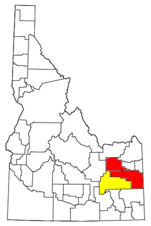 Idaho Falls metropolitan area - Image: Idaho Falls Metropolitan Area and Idaho Falls Blackfoot CSA