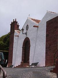 Detalle de uno de la fachada de la iglesia.