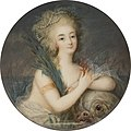 Ignazio Pio Vittoriano Campana - Marie Antionette, c. 1780-5. Watercolour on ivory, Diameter 7.2 cm..jpg