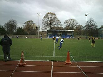 Ilford F.C. - Cricklefield Stadium's main stand in 2007