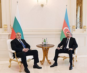 Boyko Borisov - Borisov with Ilham Aliyev.