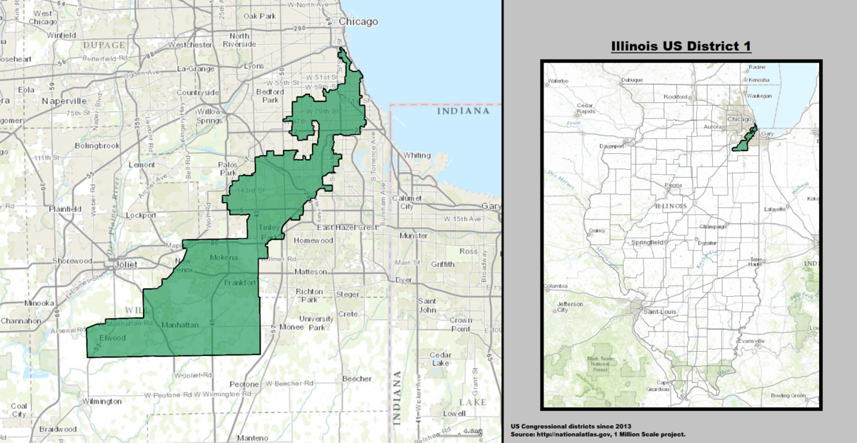 Illinoiss St Congressional District Wikipedia - Illinois on the us map