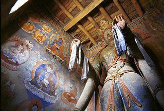 Alchi Monastery - An image of Tara in Manjushri