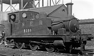 GCR Class 5A - No. 8208 at Immingham engine shed in 1947