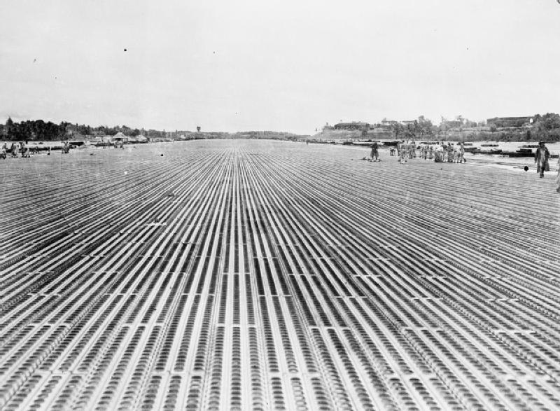 Improved main runway of RAF Changi after completion in 1946