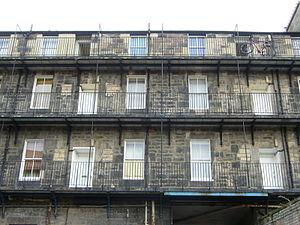 Leith Walk - 19thC industrial dwellings at the former Victoria India Rubber Mills (rear view)